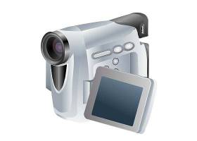白色录像机数码产品矢量设计