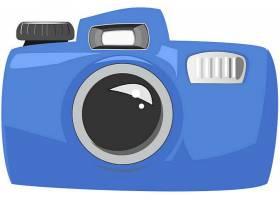 蓝色手绘相机数码产品矢量设计