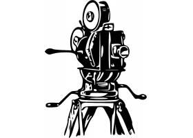 手绘录像机剪影数码智能产品设计