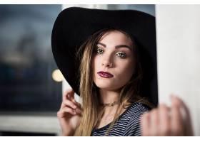 女人,模特,模特,妇女,文莱,绿色的,眼睛,口红,帽子,壁纸,
