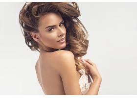 女人,模特,模特,妇女,后面的,黑发女人,棕色,眼睛,耳环,壁纸,