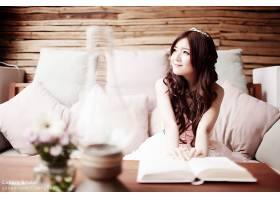 女人,莉莉,Luta,模特,越南,女孩,模特,微笑,新娘,越南的,情绪,书,