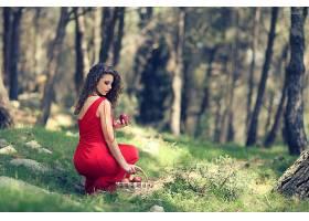 女人,情绪,女孩,妇女,苹果,篮子,红色,穿衣,深度,关于,领域,壁纸,