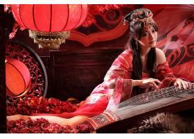 女人,亚洲的,妇女,发型设计,国家的,穿衣,工具,灯笼,壁纸,