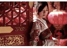 女人,Gu,Ziyī ng,模特,台湾,女孩,亚洲的,国家的,穿衣,灯笼,门,