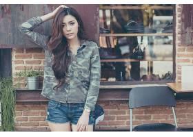 女人,Kookai,模特,泰国,女孩,模特,亚洲的,卡其布,壁纸,