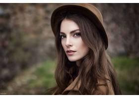 女人,香里奈,Suntseva,模特,俄罗斯,女孩,模特,肖像,帽子,重新流