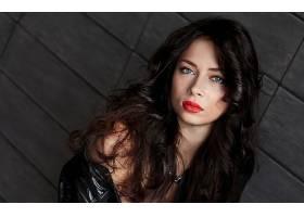 女人,模特,模特,妇女,脸,肖像,蓝色,眼睛,黑发女人,壁纸,