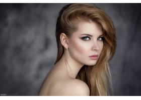 女人,模特,模特,妇女,Bokeh,白皙的,耳环,蓝色,眼睛,壁纸,