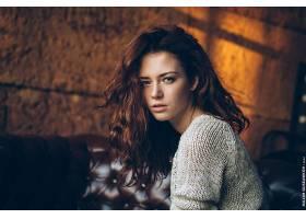 女人,模特,模特,妇女,Bokeh,红发的人,蓝色,眼睛,壁纸,(2)