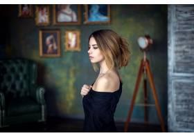 女人,模特,模特,女孩,内部,肖像,壁纸,