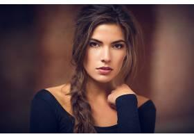 女人,模特,模特,辫子,妇女,长的,头发,肖像,棕色,眼睛,壁纸,