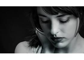 女人,模特,模特,女孩,肖像,黑色,白色,脸,壁纸,