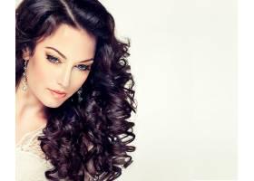 女人,模特,模特,女孩,脸,头发,耳环,卷曲,壁纸,