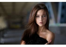 女人,模特,模特,妇女,Bokeh,黑发女人,蓝色,眼睛,壁纸,(2)
