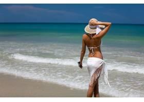 女人,比基尼,海滩,壁纸,