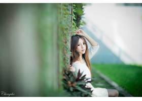 女人,张,气,六月,模特,台湾,朱莉,Chang,台湾的,女孩,亚洲的,栅栏