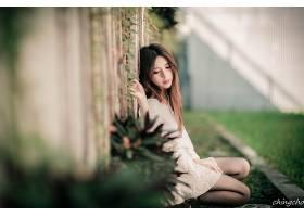 女人,张,气,六月,模特,台湾,朱莉,Chang,台湾的,栅栏,Bokeh,壁纸,
