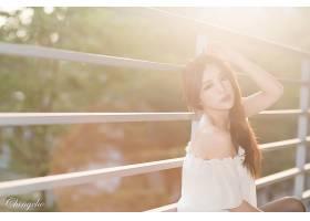 女人,张,气,六月,模特,台湾,朱莉,Chang,台湾的,阳光,头发,Bokeh,