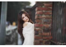 女人,张,气,六月,模特,台湾,朱莉,Chang,栅栏,Bokeh,壁纸,