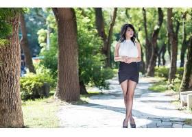 女人,亚洲的,妇女,模特,女孩,黑发女人,裙子,深度,关于,领域,棕色