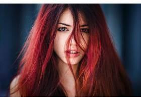 女人,脸,妇女,模特,女孩,红色,头发,棕色,眼睛,壁纸,图片