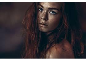 女人,脸,妇女,模特,女孩,红发的人,蓝色,眼睛,雀斑,壁纸,