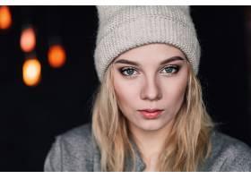 女人,脸,妇女,模特,女孩,蓝色,眼睛,帽子,壁纸,(1)