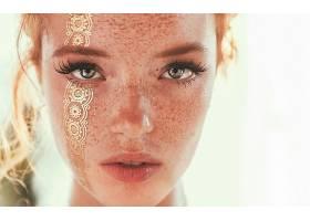 女人,脸,妇女,模特,女孩,蓝色,眼睛,雀斑,壁纸,