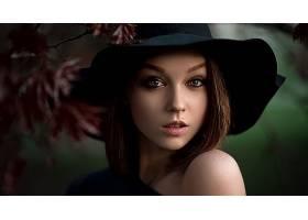 女人,脸,妇女,模特,女孩,蓝色,眼睛,黑发女人,帽子,壁纸,