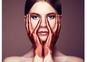 女人,脸,妇女,模特,女孩,蓝色,眼睛,黑发女人,手,化妆品,壁纸,