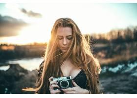 女人,模特,模特,妇女,白皙的,照相机,Bokeh,快活的,壁纸,