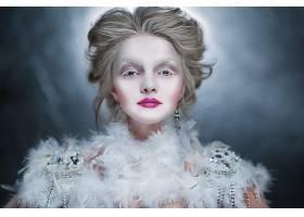 女人,模特,模特,妇女,化妆品,白色,女孩,口红,蓝色,眼睛,白皙的,