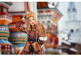 女人,模特,模特,妇女,女孩,白皙的,口红,深度,关于,领域,毛皮,壁