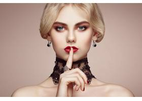 女人,模特,模特,妇女,女孩,白皙的,口红,蓝色,眼睛,耳环,壁纸,