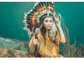 女人,当地的,美国的,妇女,模特,女孩,亚洲的,羽毛,棕色,眼睛,壁纸