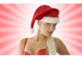 女人,模特,模特,妇女,女孩,白皙的,圣诞节,圣诞老人,帽子,壁纸,