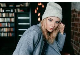女人,模特,模特,妇女,女孩,白皙的,帽子,蓝色,眼睛,壁纸,