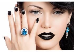女人,脸,女孩,妇女,珠宝,口红,蓝色,眼睛,耳环,壁纸,