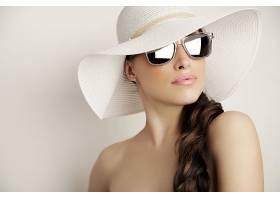 女人,模特,模特,女孩,妇女,太阳镜,黑发女人,帽子,壁纸,图片