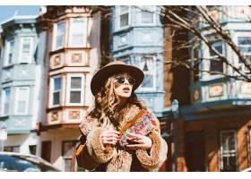 女人,模特,模特,妇女,女孩,帽子,太阳镜,快活的,黑发女人,壁纸,图片