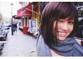 女人,亚洲的,Atsuko,前田,女演员,黑发女人,微笑,脸,棕色,眼睛,壁