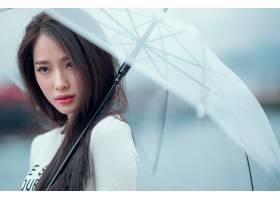 女人,亚洲的,妇女,女孩,模特,黑发女人,雨伞,棕色,眼睛,壁纸,