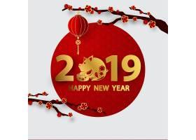 2019新年矢量装饰插画设计
