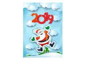 2019与卡通圣诞老人背景图片