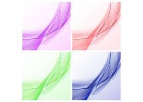 创意彩色流动线条图案底纹装饰背景