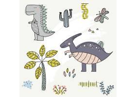 创意简洁卡通动物图案无缝底纹装饰背景