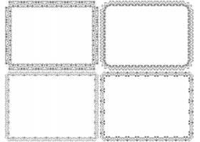 简洁创意欧式花纹边框设计