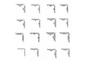 欧式个性花纹角边框设计图片