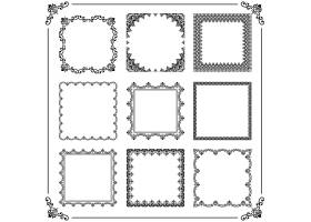 简洁创意欧式花纹标签边框设计